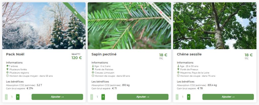 Les offres Noël d'EcoTree
