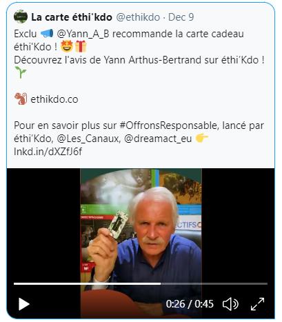 Yann Arthus Bertrand s'y met aussi !